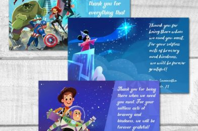 Disney Cast Members Made #DisneyMagicMoments with Thank-You Cards for Frontline Healthcare Workers!