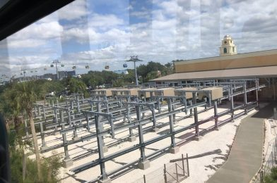 Aerial Photos Give Us a Peek at the Disney Skyliner Gondolas During the Temporary Closure