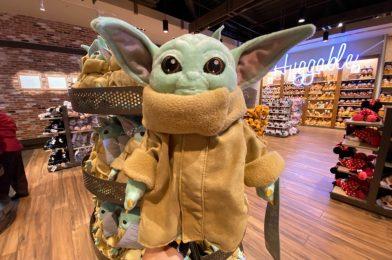 "PHOTOS: New Baby Yoda ""The Child"" Plush Debuts at Disney Springs"