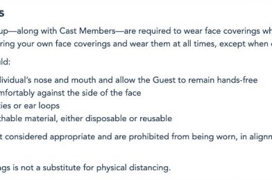 Walt Disney World Quietly Updates Age Requirement for Face Coverings