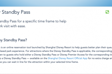 """Shanghai Disneyland Introduces """"Disney Standby Pass"""" Virtual Queue System; Full Details Released"""
