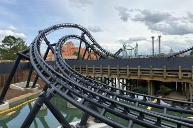 """PHOTOS: More Roller Coaster Track Installed for Jurassic Park """"Velocicoaster"""" at Universal's Islands of Adventure"""