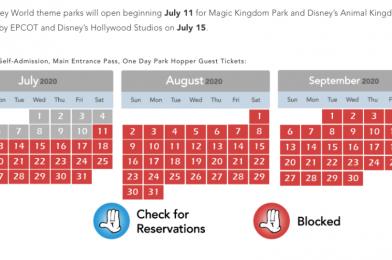 Walt Disney World Cast Members Blocked Out Through September 2020 for Theme Park Access