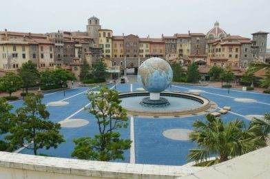PHOTOS: AquaSphere Plaza Repaving Completed, Disney Easter Banner Removed at Tokyo DisneySea
