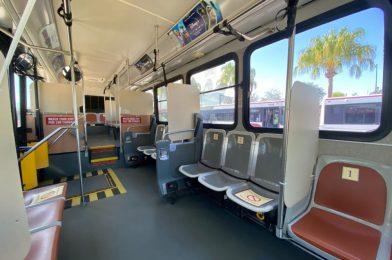 PHOTOS: Walt Disney World Resort Buses Debut Modified Seating for Social Distancing