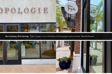 Anthropologie and Free People Closed Today at Disney Springs in Solidarity with Blackout Tuesday