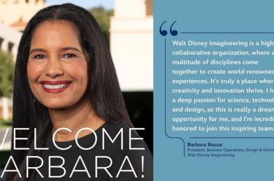Walt Disney Imagineering Names Barbara Bouza President of Business Operations, Design & Delivery