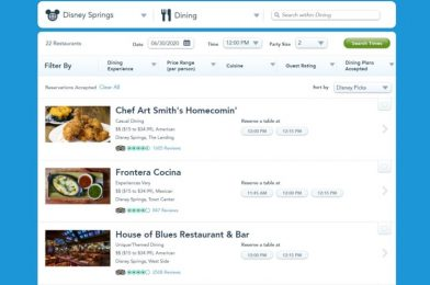 Advanced Reservations Now Available for Select Disney Springs Restaurants Through My Disney Experience