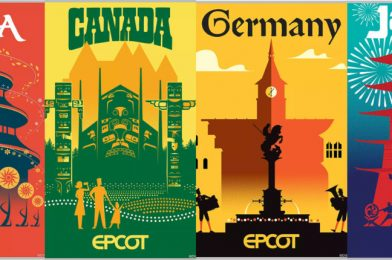 SHOP: New Limited Edition EPCOT Canada, China, Germany, and Japan Pavilion Serigraph Posters Available On shopDisney