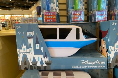 PHOTOS: New Monorail PEZ Dispenser Display Stand Arrives at Disney Springs