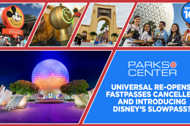 TONIGHT: ParksCenter – Universal Re-Opens, FastPasses Cancelled, and Introducing Disney's SlowPass? – Ep. 104