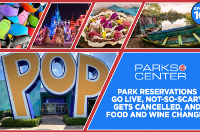 TONIGHT: ParksCenter – Park Reservations Go Live, Not-So-Scary Gets Cancelled, and Food and Wine Changes – Ep. 107