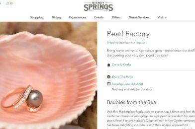 Pearl Factory Permanently Closing at Disney Springs