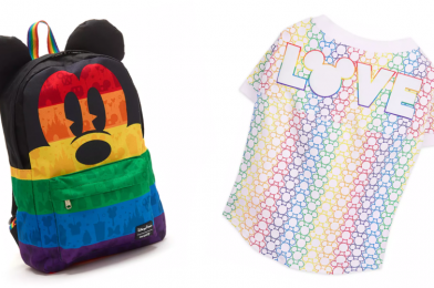SHOP: New Disney Rainbow Collection Mickey Loungefly Backpack and Dog Tee Parades into shopDisney for Pride Month
