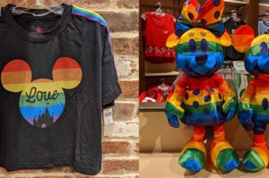 PHOTOS: New Rainbow Mickey Merchandise Arrives at Disney Springs in Honor of Pride Month
