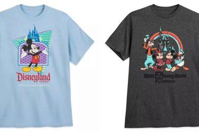 SHOP: Flash Back Through the Decades with New Retro-Inspired Disneyland Resort and Walt Disney World T-Shirts on shopDisney