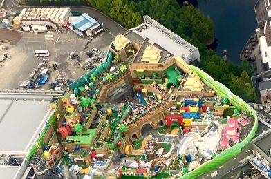 PHOTOS: Aerial Construction Photos Show Super Nintendo World Nearing Completion at Universal Studios Japan