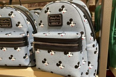 New Mickey Mouse Denim Loungefly Backpack Finally Arrives to Disney Springs
