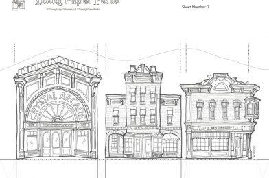 "Walt Disney Imagineering Presents New ""Disney Paper Parks"" Printable 3D Model Activity Sheets"