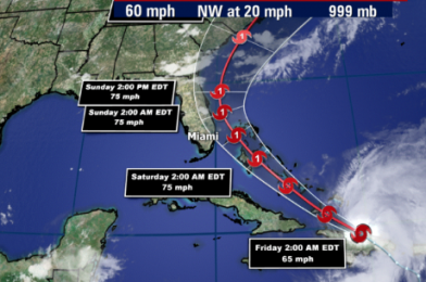 NEWS: State of Emergency and Hurricane/Tropical Storm Warnings Declared For Florida