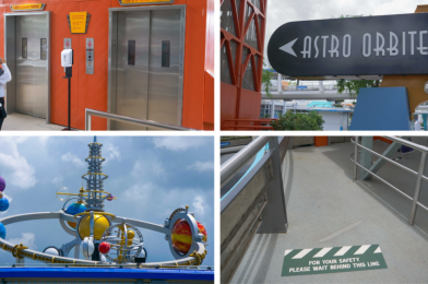 PHOTOS: A Look at Astro Orbiter as the Magic Kingdom Reopens with New Social Distancing Queue and Elevator Procedures