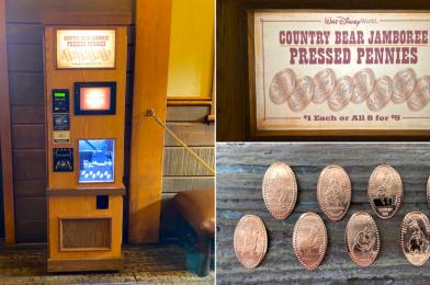 PHOTOS: New Country Bear Jamboree Pressed Penny Machine and Set Debuts at Walt Disney World