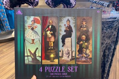 """PHOTOS: New """"The Haunted Mansion"""" Puzzle Set Featuring Stretching Room Portraits Offers a Chilling Challenge in Disney Springs"""