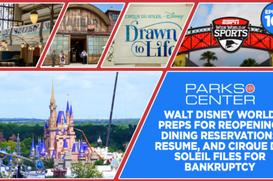TONIGHT: ParksCenter – Walt Disney World Preps for Reopening, Dining Reservations Resume, and Cirque du Soleil Files for Bankruptcy – Ep. 108