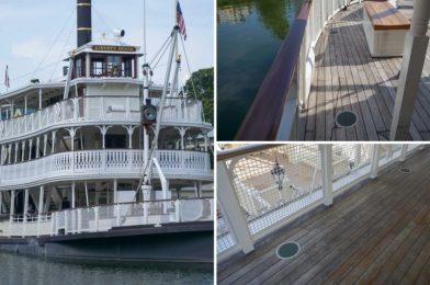 PHOTOS: Liberty Square Riverboat Sets Sail Again with New Social Distancing Measures at the Magic Kingdom