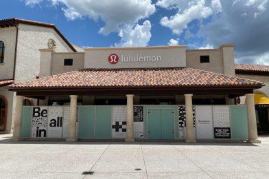 PHOTOS: lululemon Gets New Logo Signage at Disney Springs
