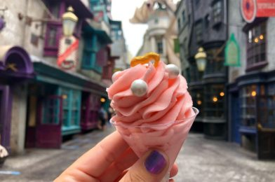 """REVIEW: """"Love Potion"""" No-Melt Ice Cream from the Wizarding World of Harry Potter Doesn't Put a Spell on Us at Universal Studios Florida"""