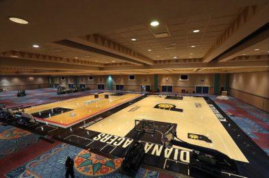 PHOTOS: New NBA Practice Courts Installed Inside Disney's Coronado Springs Resort Convention Center