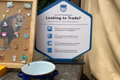 PHOTOS: New Sign Clarifies Updated Pin Trading Etiquette During COVID-19 Pandemic at Walt Disney World