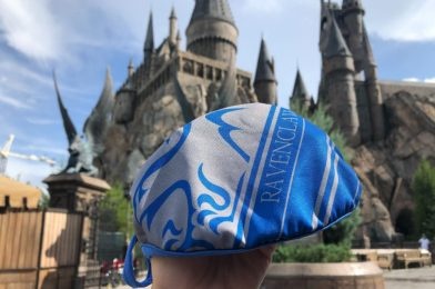 """PHOTOS: New """"Harry Potter"""" Ravenclaw House Face Masks Magically Arrive at Universal Orlando Resort"""