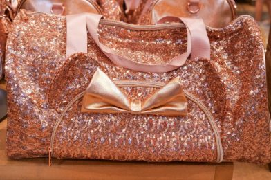 PHOTOS: New Rose Gold Minnie Ear Duffel Bag by Loungefly Debuts at Disney Springs