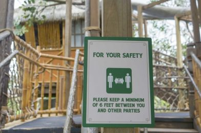 PHOTOS: Signs Instruct Guests to Social Distance Throughout the Swiss Family Treehouse at the Magic Kingdom