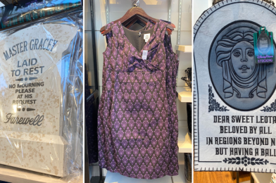"""PHOTOS: New Chilling """"The Haunted Mansion"""" Dress, Holiday Stocking, and Tombstone Yard Decor Materialize at the Disneyland Resort"""