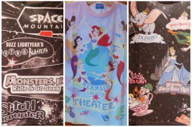 PHOTOS: New Fantasyland, Tomorrowland, & Mermaid Lagoon Land Shirts Arrive at Tokyo Disney Resort