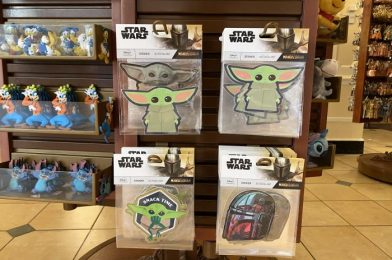 The Child From The Mandalorian Stickers Arrive at Magic Kingdom