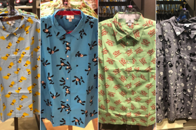 "PHOTOS: New Patterned Button-Down Shirts Featuring Dug from ""UP"", Pizza Planet, Oswald the Lucky Rabbit, and Disney Villains Arrive at Walt Disney World"