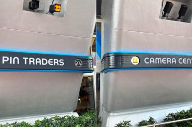 PHOTOS: First Look at New EPCOT Camera Center and Pin Traders Signs at Spaceship Earth