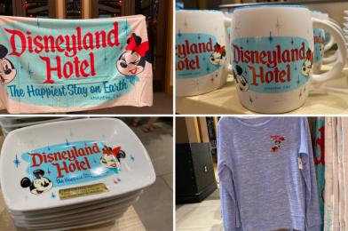 "PHOTOS: New ""The Happiest Stay on Earth"" Disneyland Hotel Merchandise Checks into Disneyland Resort"
