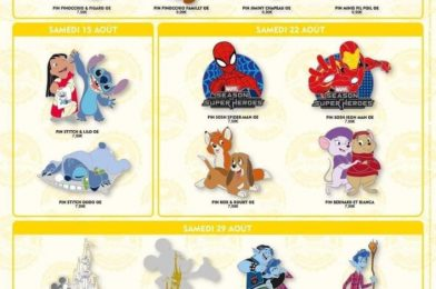 August 2020 Pin Trading Releases Revealed for Disneyland Paris