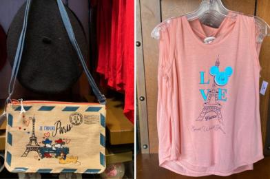 """PHOTOS: New """"Je t'adore Paris"""" Envelope Bag and Love Tank Top at Souvenirs de France in EPCOT"""