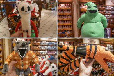 "PHOTOS: New ""Nightmare Before Christmas"" Plushies Creep into Walt Disney World"
