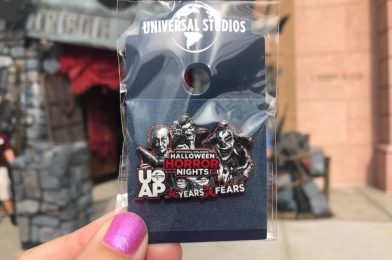 """PHOTO REPORT: Universal Orlando Resort 8/19/20 (New Halloween Horror Nights UOAP Pin, A Spooky Greeting at the Tribute Store, """"Velocicoaster"""" Updates, Small and Extra Small Face Masks Now Available, and More)"""