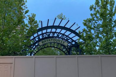 """PHOTOS: New Version of """"Ratatouille"""" Sign Installed in France Pavilion Expansion Archway at EPCOT"""