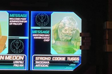"""PHOTOS: Strono """"Cookie"""" Tuggs from Star Wars: Galaxy's Edge Added to Star Tours at Disney's Hollywood Studios"""