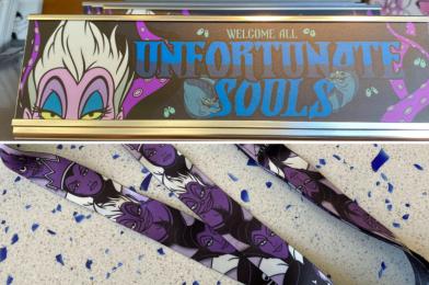 PHOTOS: New Ursula Desk Plaque and Disney Villains Lanyard Unleashed on Walt Disney World