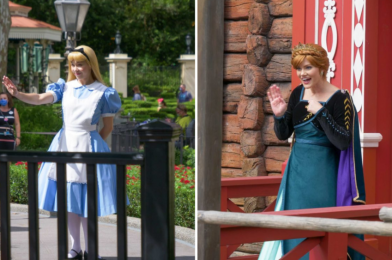 PHOTOS: Alice Moves to New Socially-Distanced Meet & Greet Location in the UK Pavilion, Anna Now Greeting Outside of Royal Sommerhus at EPCOT